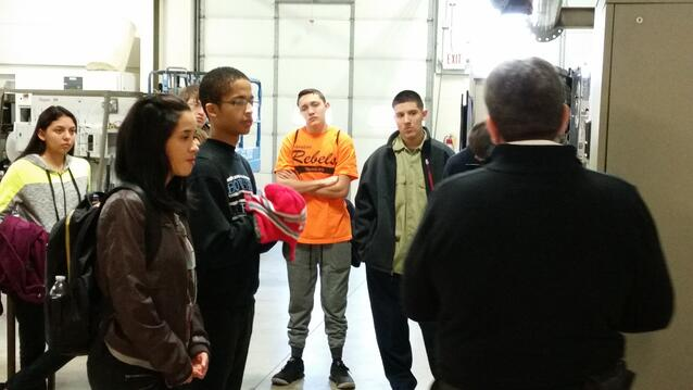 TPS students in the Hispanic Outreach program tour the Piping Industry Training Center.